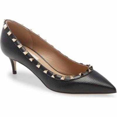 ヴァレンティノ VALENTINO GARAVANI レディース パンプス ローヒール シューズ・靴 Rockstud Kitten Heel Pump Black