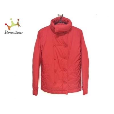 ラコステ Lacoste ダウンジャケット サイズ40 M レディース 新品同様 - レッド 長袖/冬 新着 20200813