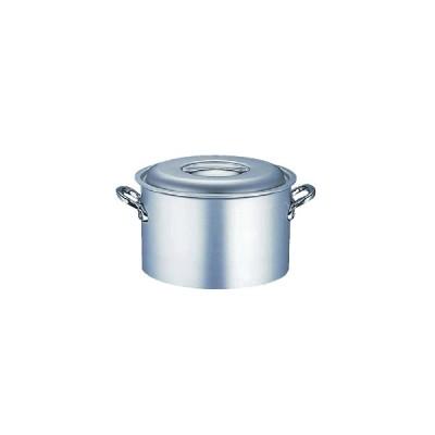 半寸胴鍋 (ふた付き):18cm エコクリーン アルミ マイスター半寸胴鍋(本体内面ゼロクリア2コート加工)18cm (8-0032-0201)