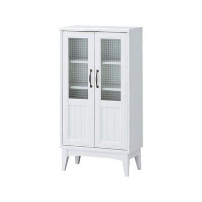 キャビネット サイドボード 戸棚 本棚 食器棚 レトロ カントリー ガラス戸 レトロア 幅57cm 高さ110cm カップボード 棚 おしゃれ かわいい