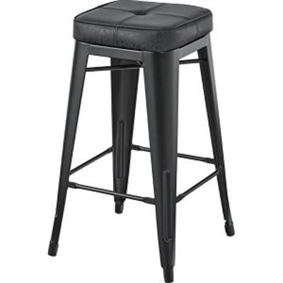 ハイスツール イス バーチェア 椅子 カウンターチェア (数量1) ブラック 黒  送料無料