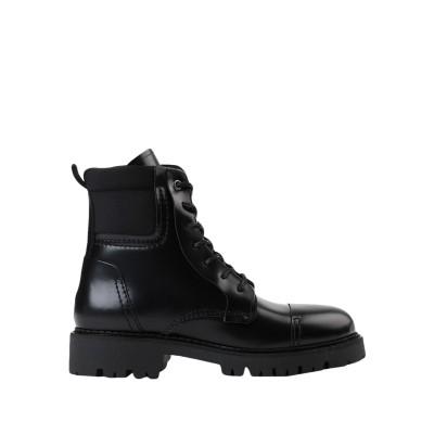 TOMMY JEANS ショートブーツ ブラック 36 革 / 紡績繊維 ショートブーツ