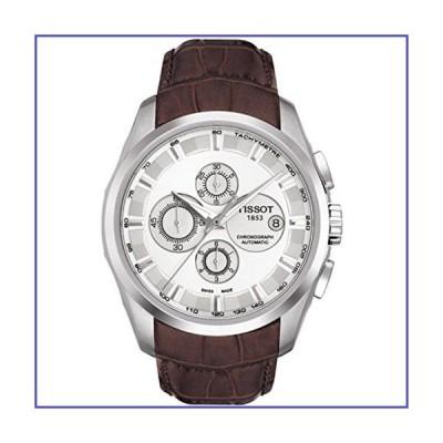Tissot Couturier自動クロノグラフブラウンレザーシルバーダイヤルメンズ腕時計# t035.627.16.031.00