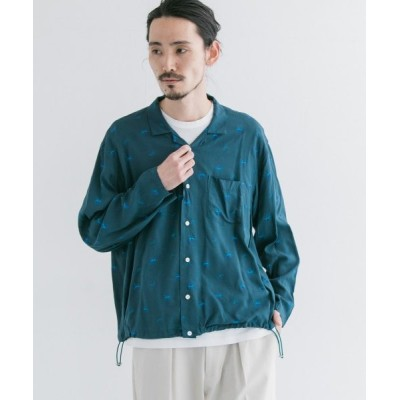 【アーバンリサーチ】 WELLDER Drawstring Shirts メンズ GREEN 3 URBAN RESEARCH