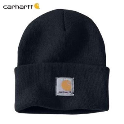 カーハート キャップ メンズ 正規品 CARHARTT ニットキャップ 帽子 ACRYLIC WATCH HAT A18 NVY  父の日 ギフト プレゼント