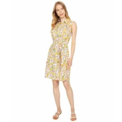 トミー ヒルフィガー レディース ワンピース トップス Floral Sleeveless Shirtdress Deep Maize Multi