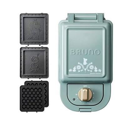 ブルーノ BRUNO ホットサンドメーカー ムーミン 耳まで焼ける 電気 ワッフルプレート セット シングル ブルーグリーン BOE050-