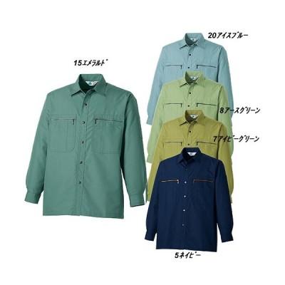 作業服タカヤ商事TF-0852オールシーズン長袖シャツ作業着/綿35%・ポリエステル65%/帯電防止素材・防汚性