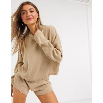 インザスタイル レディース ニット&セーター アウター In The Style x Lorna Luxe lola knitted sweater two-piece in stone Stone