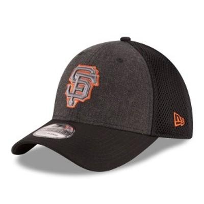 ニューエラ メンズ 帽子 アクセサリー San Francisco Giants New Era Neo 39THIRTY Flex Hat Heathered Gray/Black