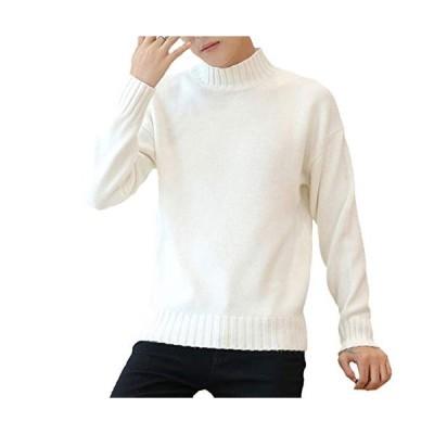 [ポップレオン] ニット セーター ハイネック シンプル ベーシック トップス タートル 無地 ハイネックセーター タートルネックセーター カットソー