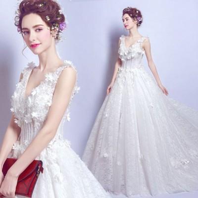 ウェディングドレス 結婚式 トレーン 二次会ドレス 花嫁ドレス 2次会 二次会 花嫁 パーティー 結婚式ドレス 大きいサイズ トレーン ホワイト 白