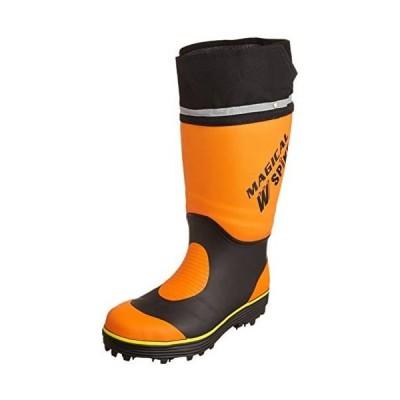 [マルゴ] 長靴 防滑スパイク Wピン 鋼製先芯 反射素材 履き口フード マジカルスパイク 900