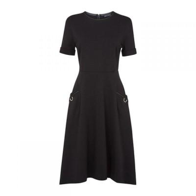 ジュームズ レイクランド James Lakeland レディース ワンピース ミドル丈 ワンピース・ドレス Pocket Leather Detail Midi Dress Black