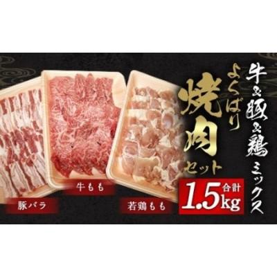 牛&豚&鶏 ミックス よくばり 焼肉 セット 各500g 計1.5kg