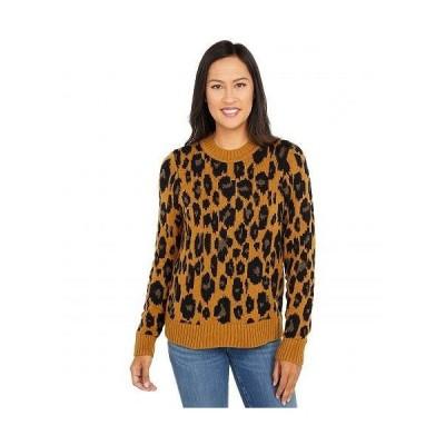 Lucky Brand ラッキーブランド レディース 女性用 ファッション セーター Leopard Intarsia Pullover - Camel Heather