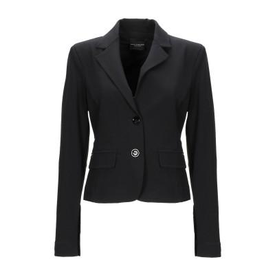 アトス ロンバルディーニ ATOS LOMBARDINI テーラードジャケット ブラック 46 レーヨン 57% / ナイロン 35% / ポリウレ