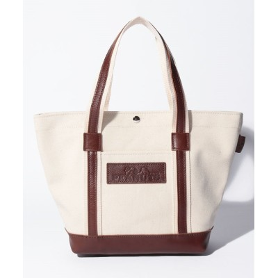 (SNOOPY Leather Collection/スヌーピー)スヌーピー レザー×キャンバストート M/ユニセックス ブラウン