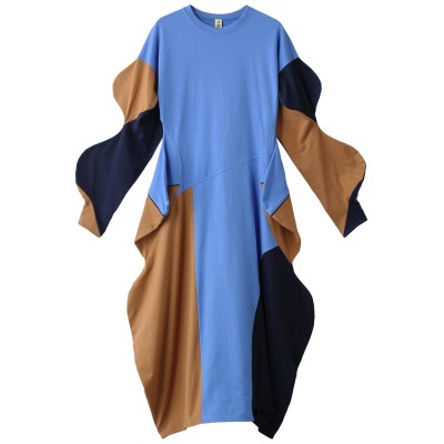 nagonstans ナゴンスタンス CO天竺 BUMP ドレス レディース ブルー 36