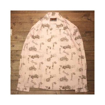"【AT-DIRTY】 (アットダーティー)""READY L/S SHIRT""PINK"