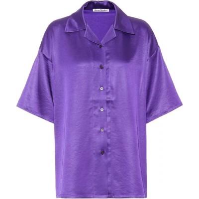 アクネ ストゥディオズ Acne Studios レディース ブラウス・シャツ トップス satin shirt Electric Purple