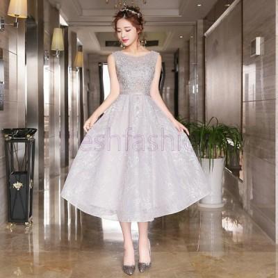 人気新品 ドレス パーティドレス キャバドレス 結婚式ワンピース ワンピ 花嫁 二次会ドレス ウエディングドレス イブニングドレス お呼ばれ ミディアムドレス