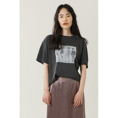 ROSE BUD/ローズ バッド LIFE フォトプリントTシャツ ブラック -