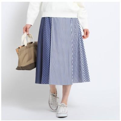 【デッサン/Dessin】 【洗える】アイコニックストライプスカート