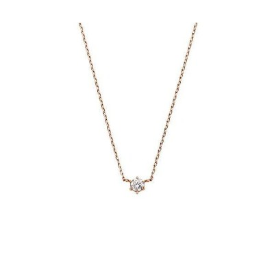 [VAヴァンドーム青山] VA VENDOME AOYAMA VI (ヴイアイ) K18PG ダイヤモンド 0.06ct 1石 ネックレス
