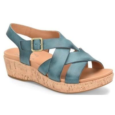 コークイーズ レディース サンダル シューズ Caroleigh Leather Cork Platform Wedge Sandals
