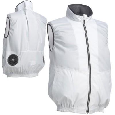ワークベスト ポリ100% シルバーグレー ベスト型服地 COOLING BLAST LX-6700WVS 空調服のように使える作業服 作業着 リン