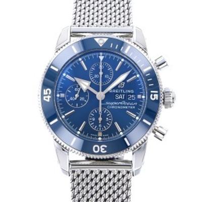 ブライトリング BREITLING スーパーオーシャン ヘリテージ II クロノグラフ 44 A275C-1OCA ブルー文字盤 新品 腕時計 メンズ