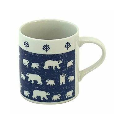 みのる陶器 白くま 軽量マグカップ ネイビー 320ml 4965583744184