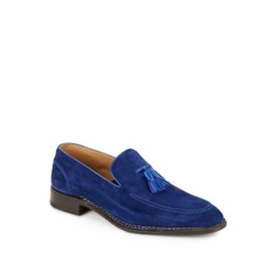 ディビアンコ メンズ シューズ ローファー Norvegese Hand Made Suede Loafers