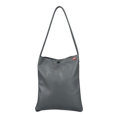 TSD12 肩掛けバッグ 鉛色 革 肩掛けバッグ