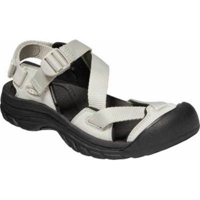 キーン レディース サンダル シューズ Women's Keen Zerraport II Active Closed Toe Sandal Silver Birch/Black