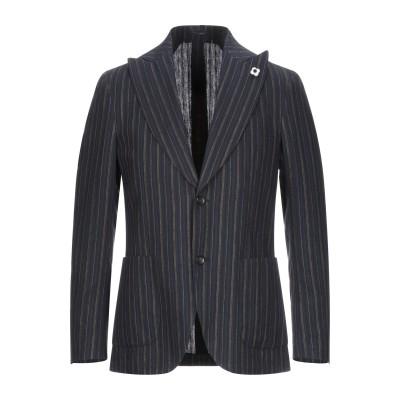 ラルディーニ LARDINI テーラードジャケット ダークブルー 46 コットン 50% / リネン 50% テーラードジャケット