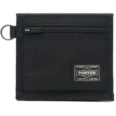 (PORTER/ポーター)吉田カバン ポーター ハイブリッド ポーター 財布 PORTER HYBRID 二つ折り財布 小銭入れあり ウォレット 737-17828/ユニセックス ブラック
