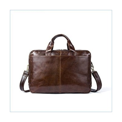 RUNWEI Soft Leather One-Shoulder Briefcase Work Bag with Carry-on Bag並行輸入品