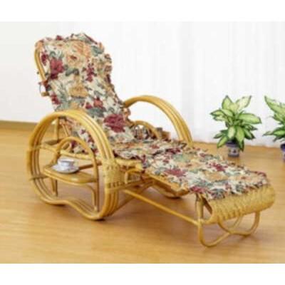 ラタン 三つ折寝椅子(ファブリックカバー付き)A200M