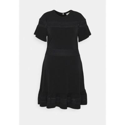 マイケルコース ワンピース レディース トップス MIX DRESS - Jersey dress - black