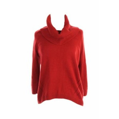 Red  ファッション トップス Inc International Concepts New Red 3/4-Sleeve Cowl-Neck Sweater XS