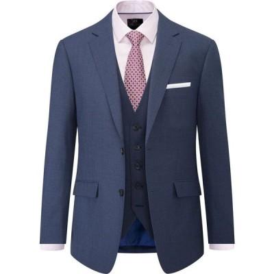 スコープス Skopes メンズ スーツ・ジャケット アウター Percy Wool Blend Suit Jacket Blue
