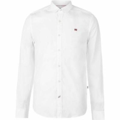 ナパピリ Napapijri メンズ シャツ トップス Long Sleeve Shirt White