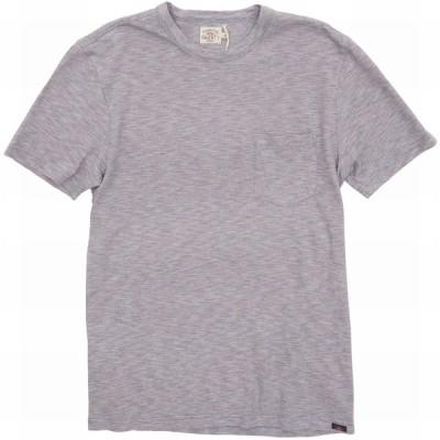 FAHERTY BRAND (ファリティ ブランド) 本藍染め ボーダー ポケット Tシャツ インディゴ x レッド メンズ Red Sun Indigo Tee