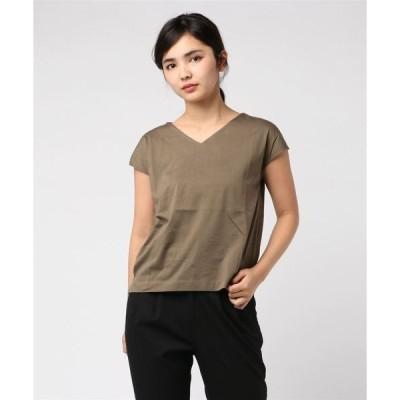 tシャツ Tシャツ バックチェーンフレンチスリーブカットソー