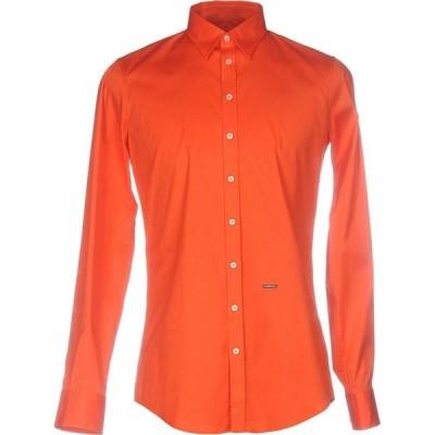ディースクエアード DSQUARED2 メンズ シャツ トップス Solid Color Shirt Red