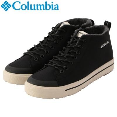 コロンビア ホーソンレイン 2 ウインター ウォータープルーフ YU0353-010 メンズシューズ スニーカー ハイカット 黒靴 黒スニーカー ブラック
