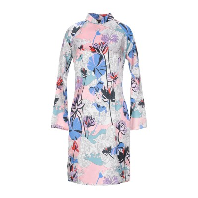 SNOW XUE GAO ミニワンピース&ドレス ピンク 4 シルク 100% ミニワンピース&ドレス