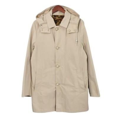 【1月18日値下】Traditional Weatherwear 16SS DERBY HOOD EX リバーシブルフーデッドステンカラーコート ベー